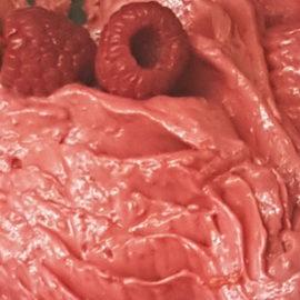raspberry, vegan dessert