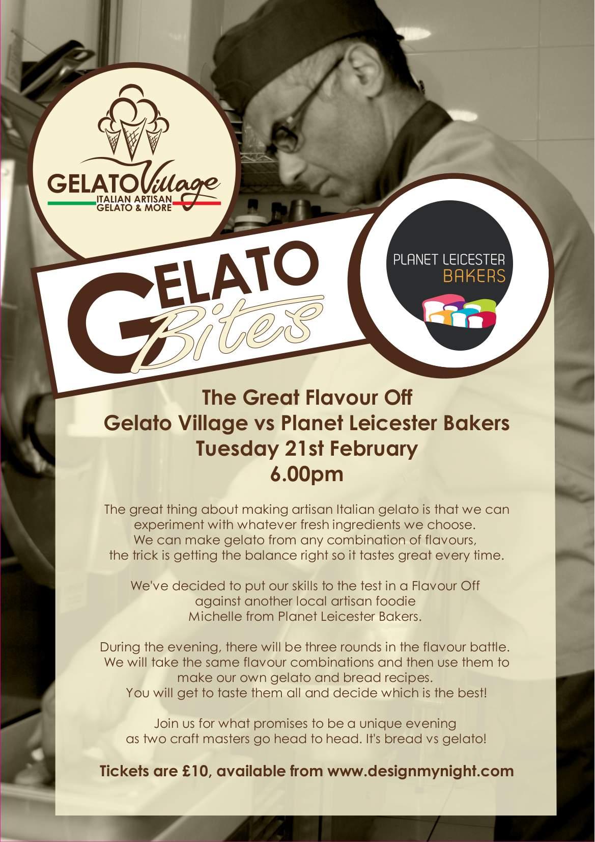 gelato bites bakers poster