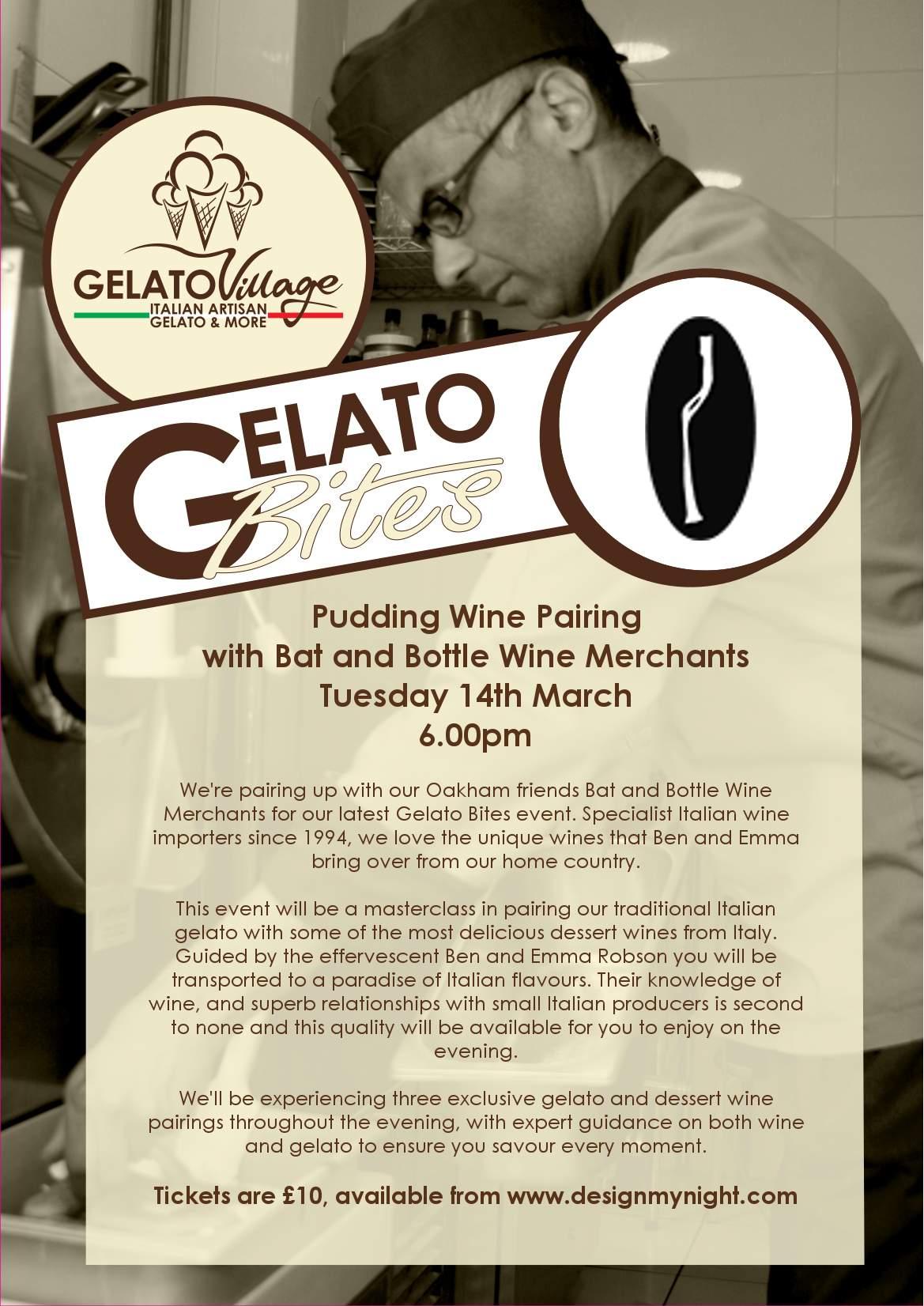 gelato bites poster pudding wine pairing