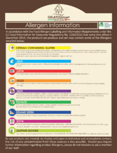 Gelato Village allergen information