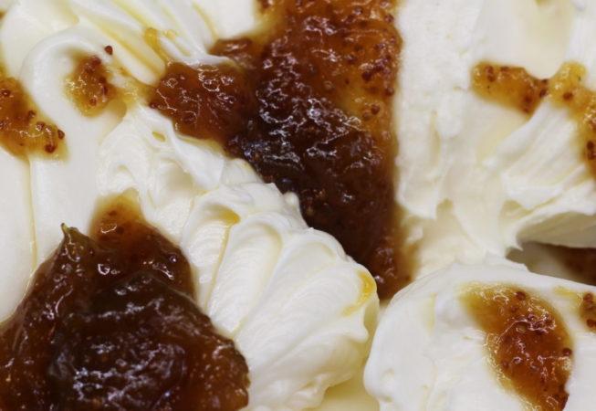 fig, ricotta, gelato