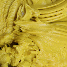 Golden milk gelato is a recipe that Gelato Village developed inspired by the Indian recipe for Turmeric Milk.