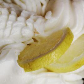 Lemon sorbetto made from fresh PGI Sfusato lemons from the Amalfi Coast in Italy.
