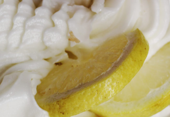Lemon sorbetto made from fresh PGI Sfusato lemons from the Amalfi Coast in Italy.
