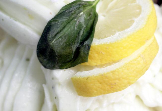lemon and basil, vegan dessert leicester