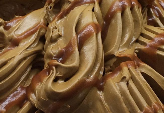 liquorice gelato, salted caramel gelato