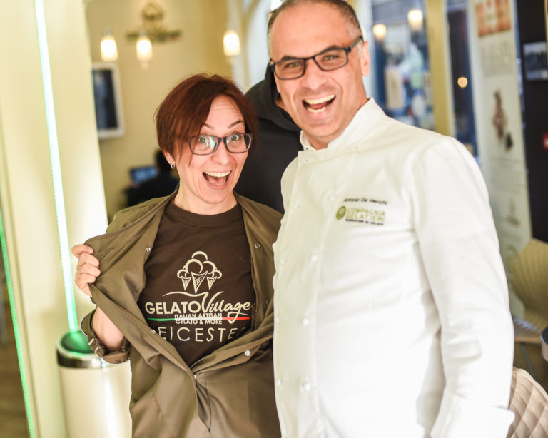 The master gelato makers at Gelato Village in Leicester