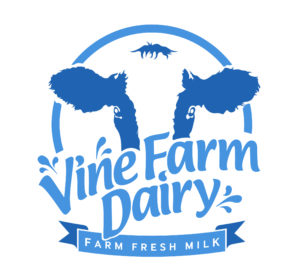 Vine Farm Dairy logo milk at Gelato Village Leicester