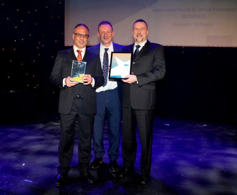 Gelato Village win Best Food & Drink Producer award at Leicester Tourism Awards