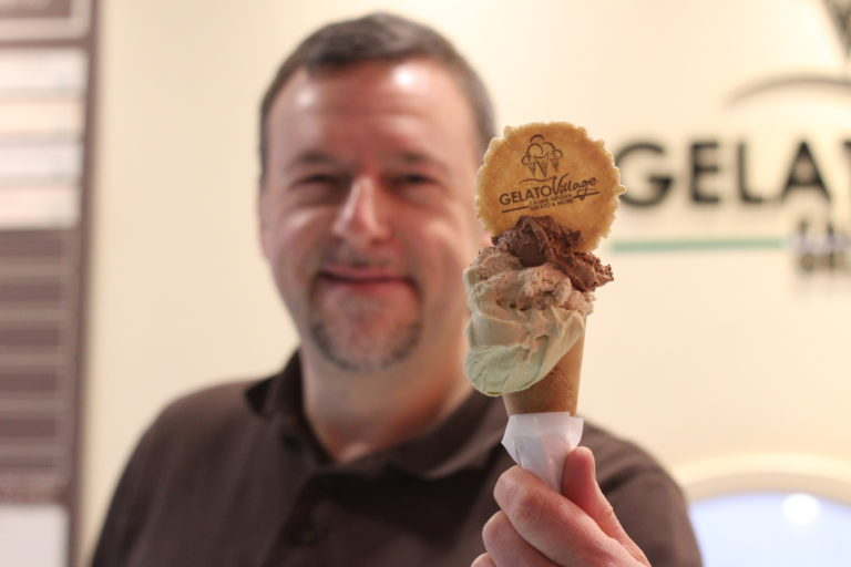 Daniele Taverna of Gelato VIllage featured in Corriere