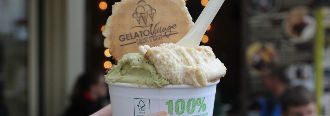 Cup of gelato at Gelato Village Leicester
